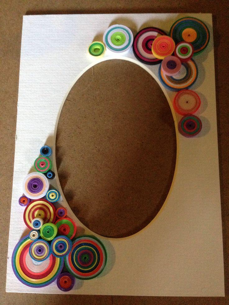 Quilled photo mat