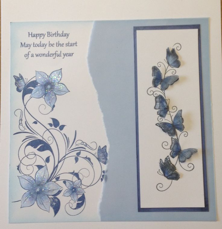 Honey Doo Butterfly border, butterflies and flowers large corner and birthday sentiments.