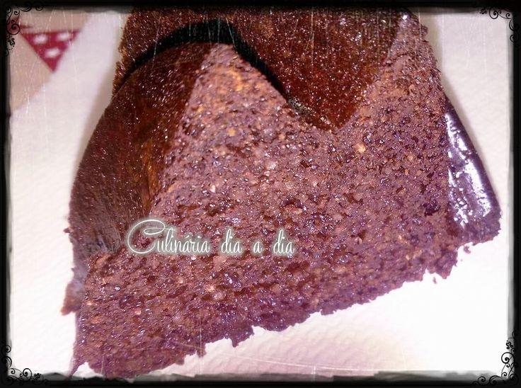 Bolo de chocolate s/glúten e açúcar refinado