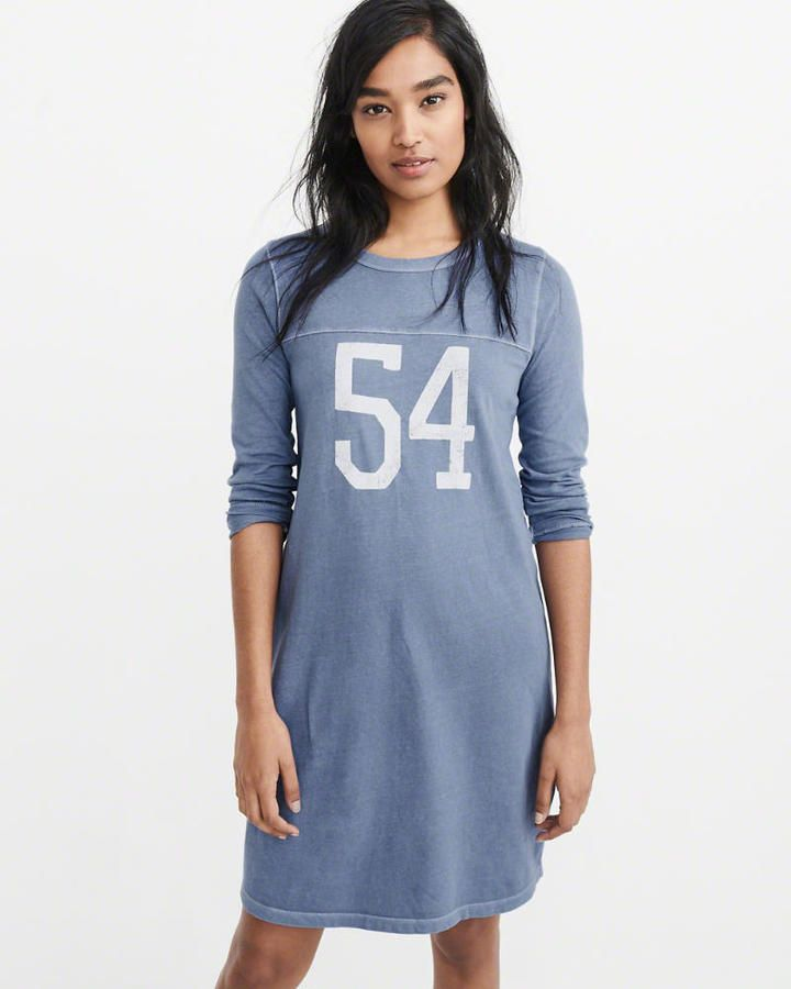 Abercrombie & Fitch Graphic T-Shirt Dress