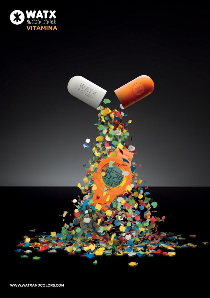 WATX & COLORS Vitamina: Relojes de colores tendencia con esferas y correas intercambiables. ¡Más de 100 combinaciones diferentes para estrenar reloj cada día!