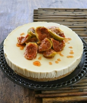 RECIPE: Honey & Orange Cheesecake with Candied Fig Compote