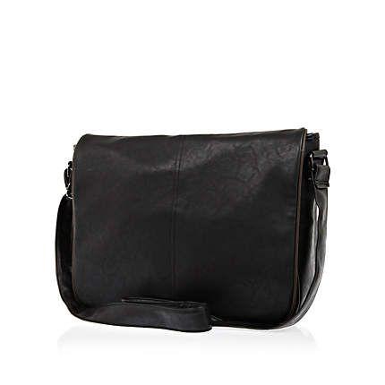 Black contrast trim flap over bag £15.00
