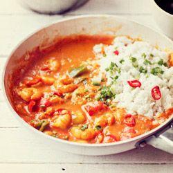 Curry z krewetkami i papryką - Kwestia Smaku