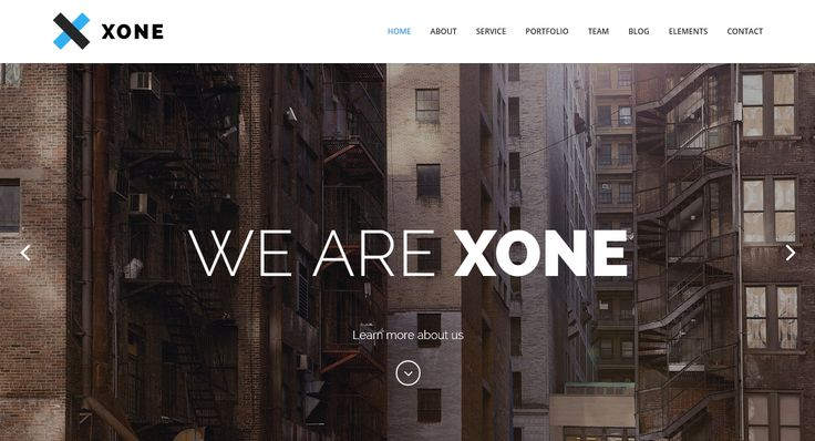 Modern one page template - Xone