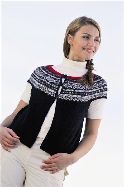 Tema 15: Modell 8 Vest med rundt bærestykke #strikk #marius