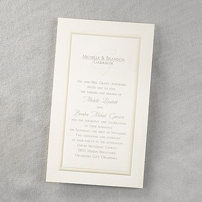 Extra Ordinary Traditional Elegance With A New Invitation Size That Will  Bring A Flair To Your Whole Ensemble.