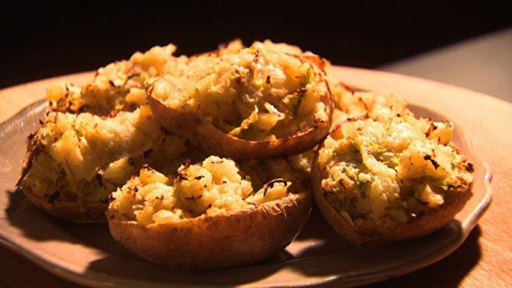 Batatas duplamente assadas - Receitas - GNT