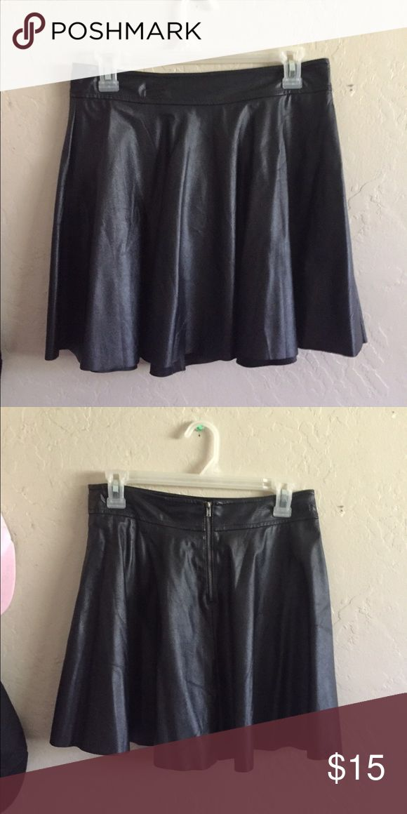 Faux leather skater skirt Skater skirt faux leather tagged is ripped out but it's a size small and from forever 21. UNIF for exposure UNIF Skirts