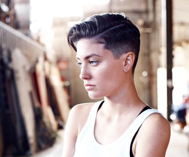 girl fade haircut