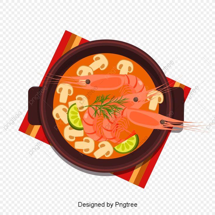 อาหารไทย ต มยำก ง ภาพต ดปะอาหาร การ ต น อาหารไทยภาพ Png และ เวกเตอร สำหร บการดาวน โหลดฟร อาหารไทย การ ต น อาหาร