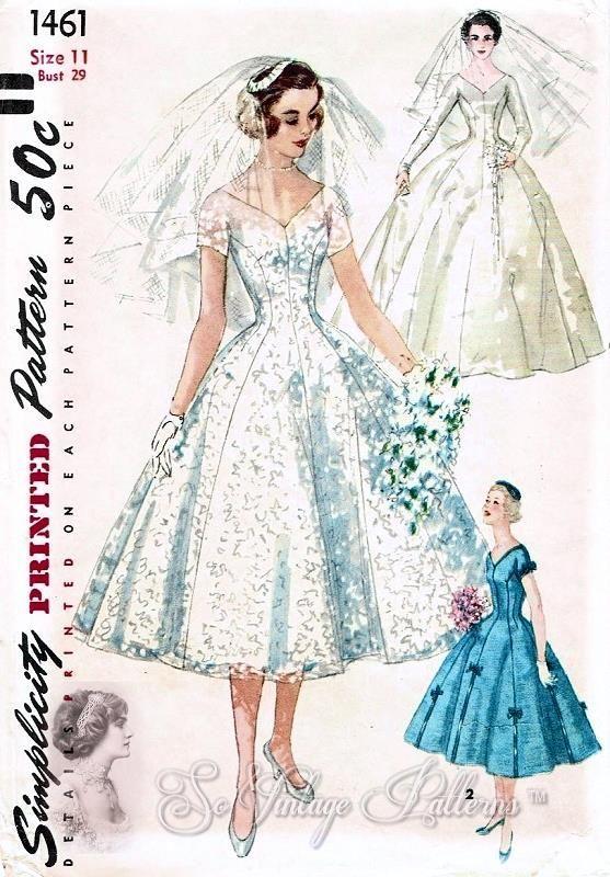 2320 best Bridal Sewing Patterns images on Pinterest | Short wedding ...