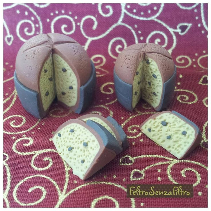 #Polymerclay #Panettone, a tradiotional cake from #Milan #Fimo