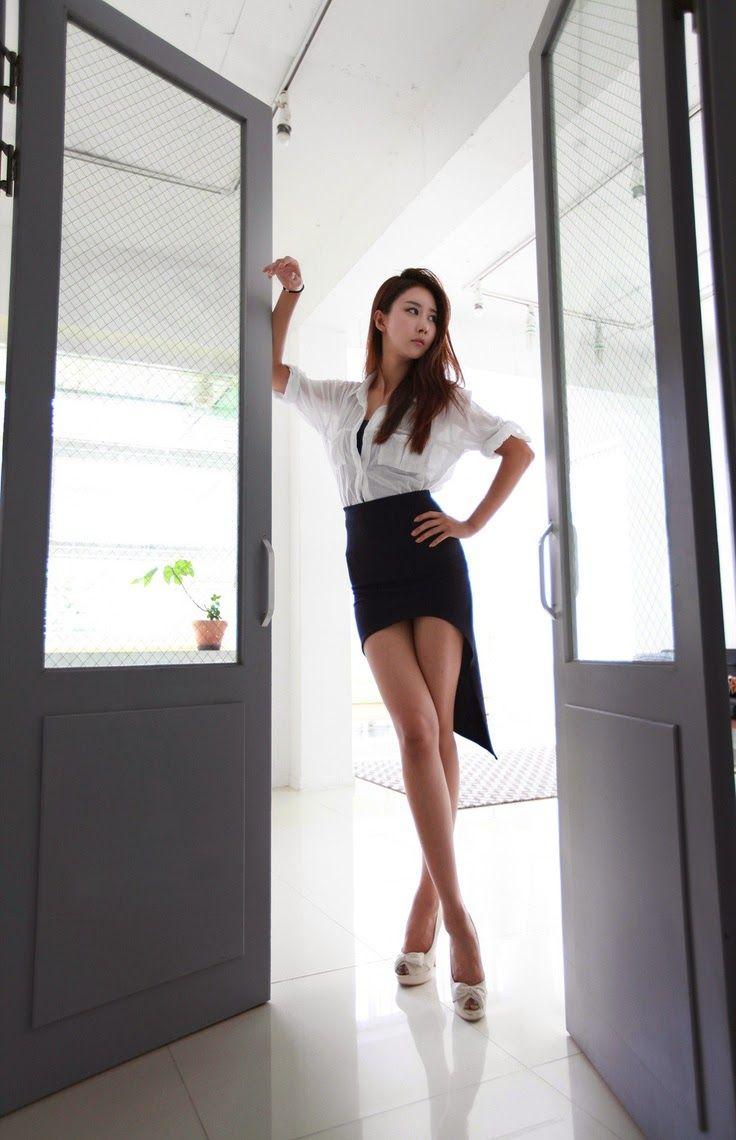 Asian girls in mini skirts