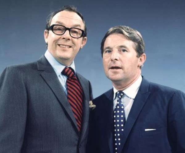Image result for MORECAMBE & WISE SITTING ON THE WALL