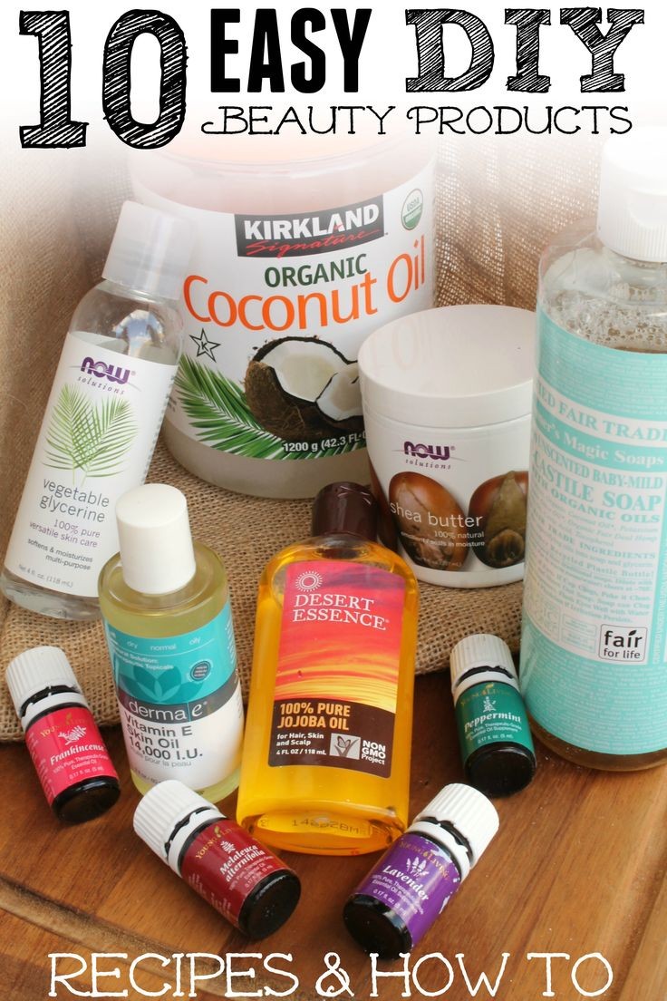 Are you sick of spending so much money on beauty care products? I make a lot of my own and am sharing my 10 favorite recipes over on the blog today! Make your own Bath Soak, Shampoo, Mouthwash, Leave in Hair Condition, Whipped Body Butter and more!
