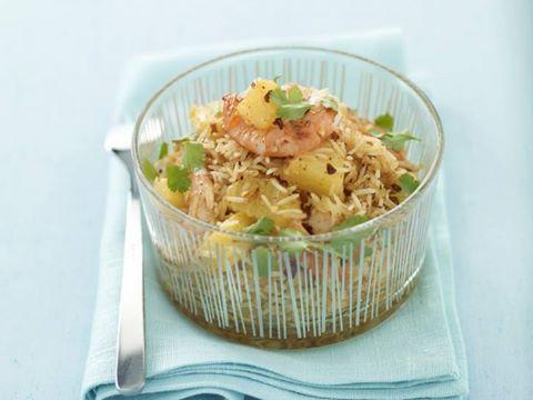 Riso pilaf con i gamberi e ananas......Per la ricetta consultate il mio sito oppure scrivetemi nei commenti!
