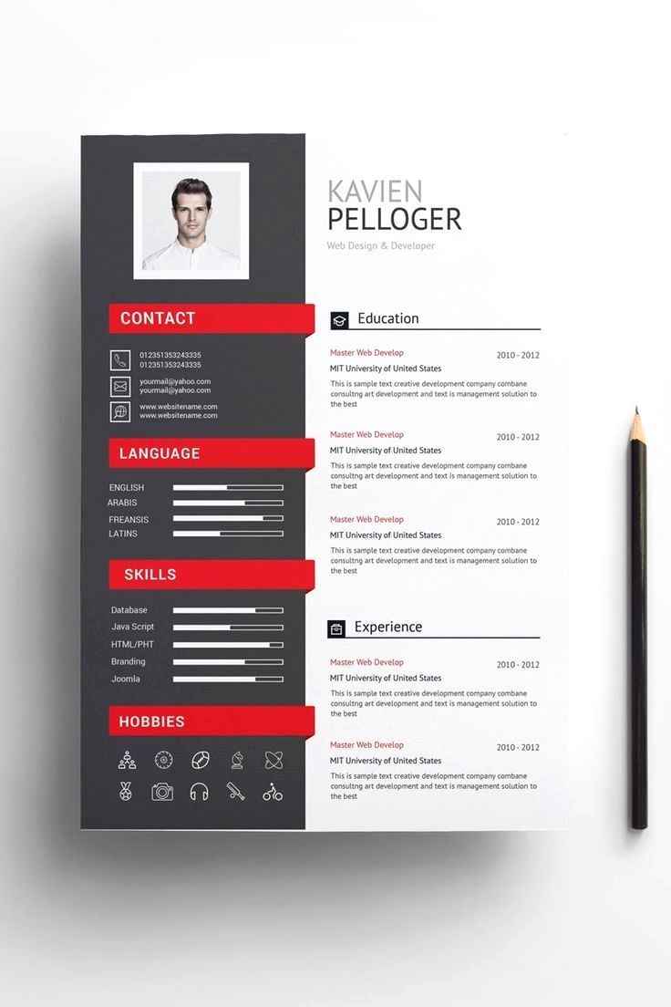 A4 paper size 210x297mm two pagetemplate resumecv one