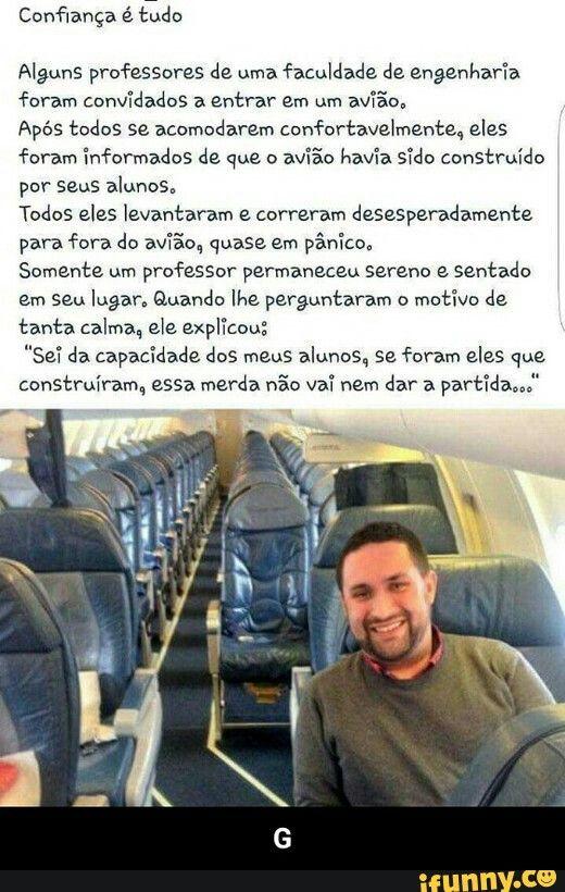 humor zoeira piada rir escola avião professor de engenharia  RS RS