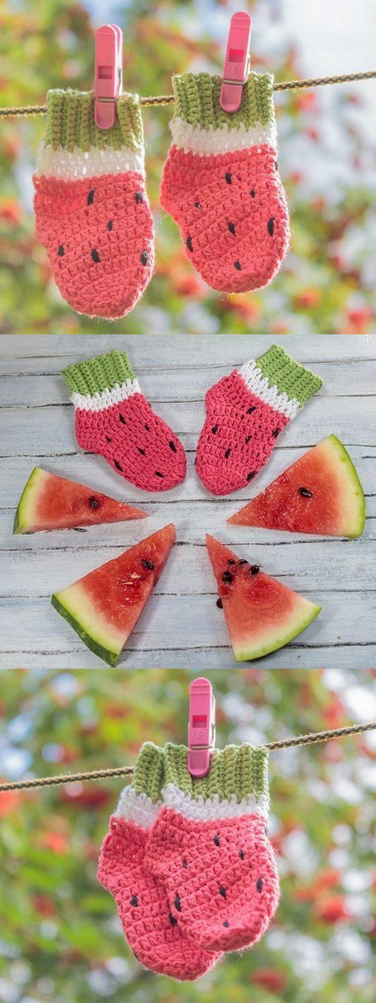 Sew ankle socks watermelon socks free pattern! Thi…