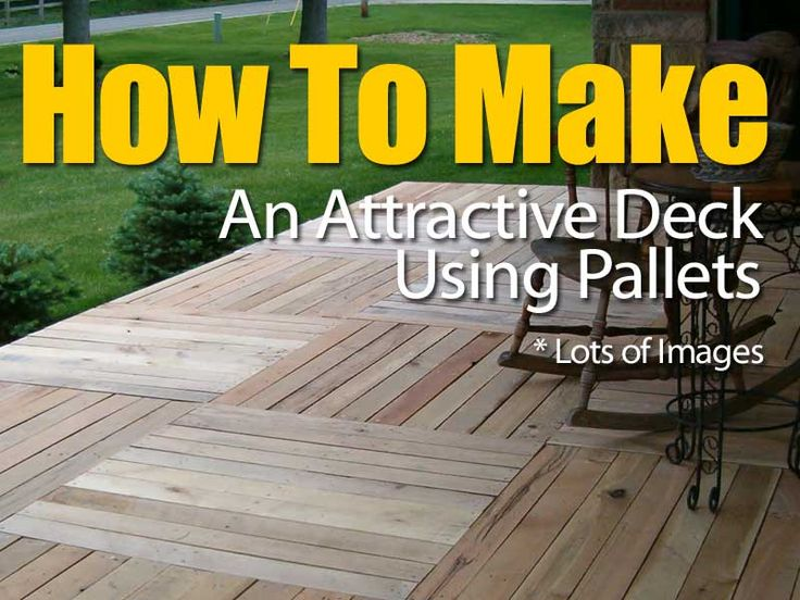 Best 25 pallet patio ideas on pinterest pallet porch for Things to consider when building a deck