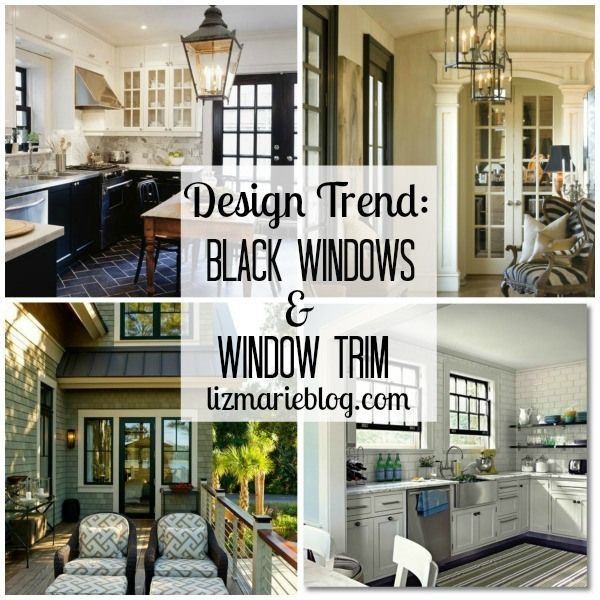 One of my favorite trends in Interior design is black trim around windows & black windows. It makes the windows pop & really frames the view outside turning the windows into works of art. The black window trim & windows makes the space look more custom & helps anchor the room. Black trim is beautiful & can be so classy & fabulous