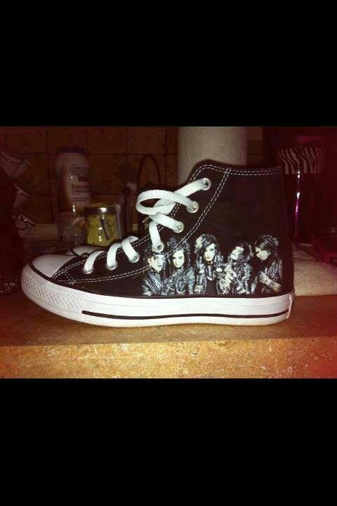 BVB shoes! I NEED THESE AND I WANT THESE!!! well i can draw on my own shoes.. BUT ITS NOT THE SAME!