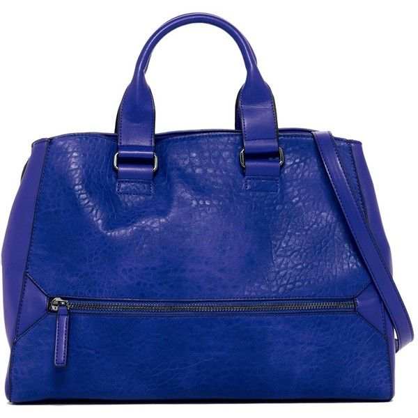 French Connection Bridget Tote ($60) ❤ liked on Polyvore featuring bags, handbags, tote bags, blue, shoulder strap purses, handbags tote bags, blue tote handbags, french connection and french connection handbags