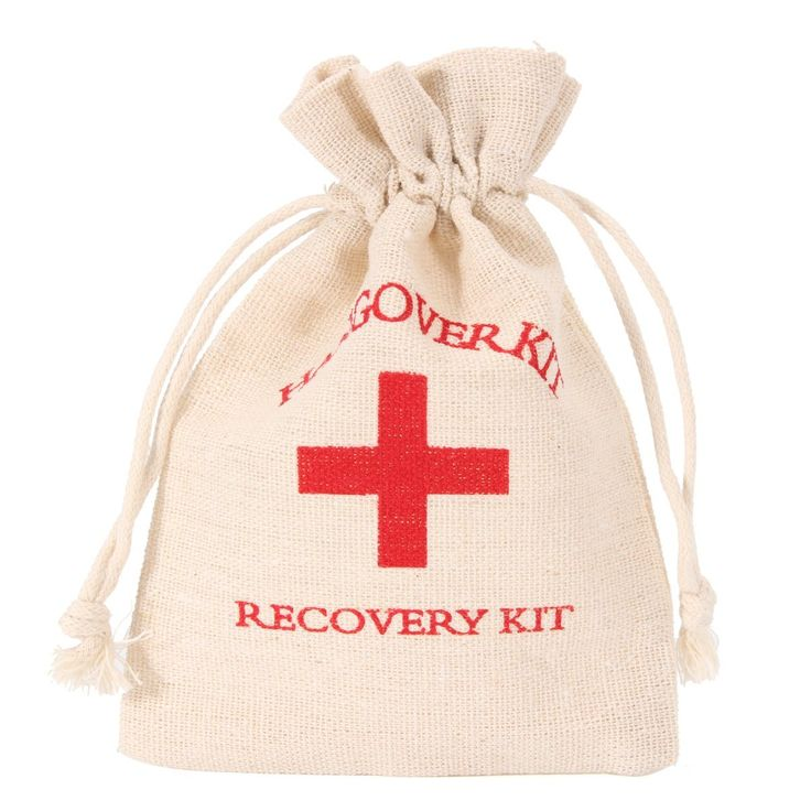 NEW Safurance 10pcs Set Hangover Survival Kit Cotton Linen Bags First Aid Party Storage Supply Emergency Kits
