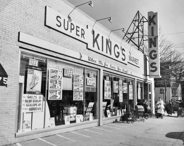 retro retail stores supermarket hill section of newark nj 1948 1948
