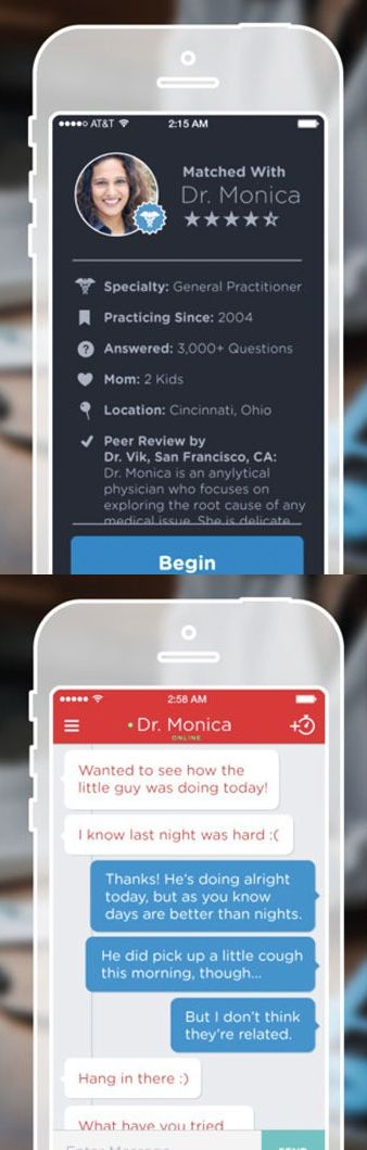 Communicate with a doctor to help answer general medical questions using this app.