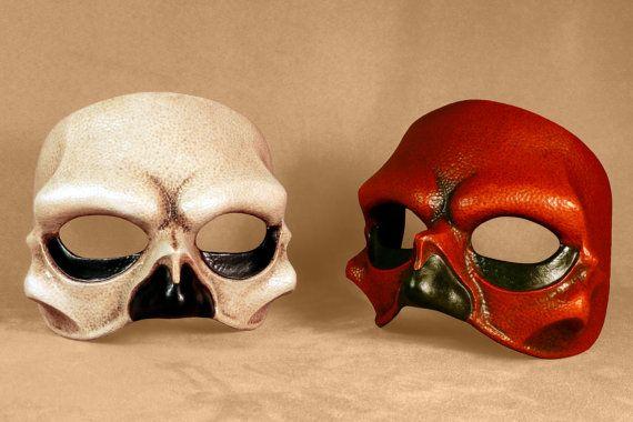 HalfSkull Mask by Piratemask on Etsy, $70.00
