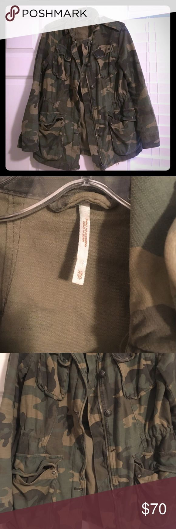 Free People boyfriend jacket One button missing.... but I have the button to attach it.  Less than 6 months old Free People Jackets & Coats Utility Jackets