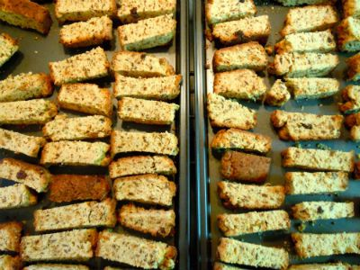 South African Rusks (Sliced) this recipe is great- I halve it and add a handful of shredded coconut and more dried fruit! A staple in my kitchen now!