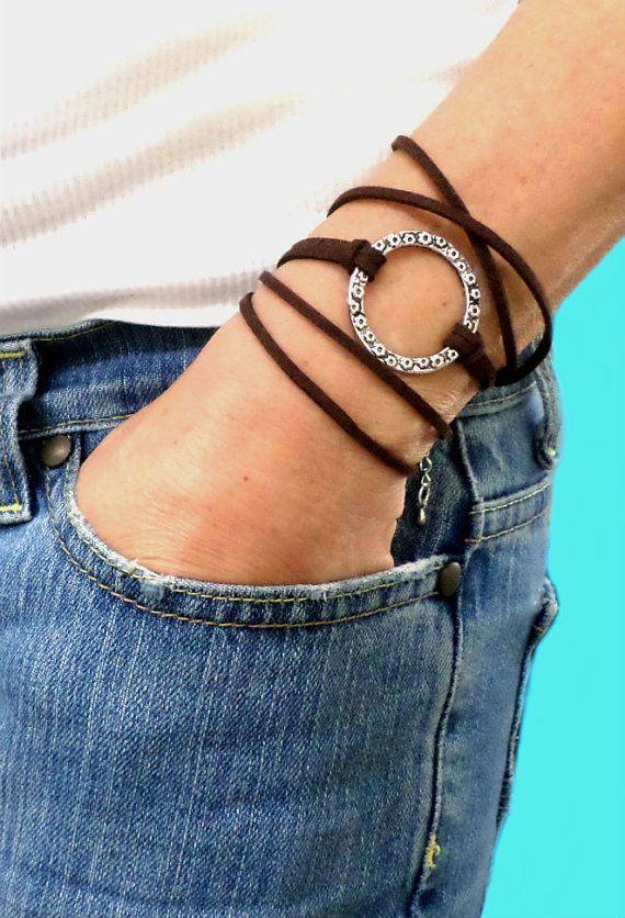 BOHO Infinity Wrap Bracelet Adjustable Microfiber by 3StoresDown