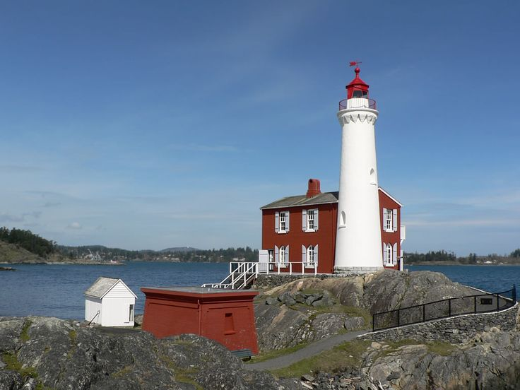 Fisgard Lighthouse (1860) at Esquimalt, BC, was the first on Canada's west coast. It's still operational today.