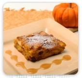 Pumpkin Bread Pudding with Caramel Rum Sauce | Lorann Oils