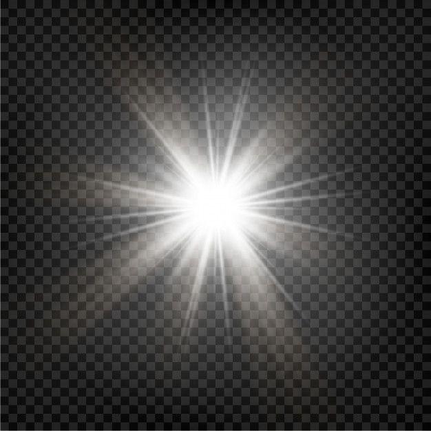 Bright Star Transparent Shining Sun Bright Flash Sparkles Vector Illustration Vector Illustration Bright Stars Abstract