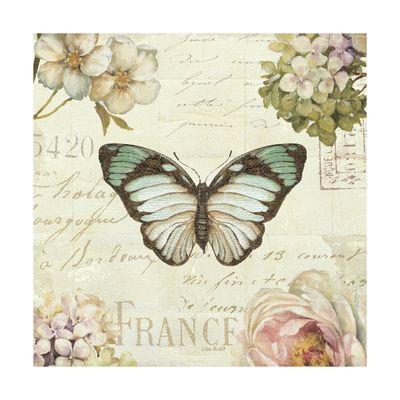 Marche de Fleurs Butterfly II Art Print at AllPosters.com
