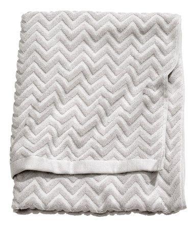 H&M - grey chevron towel