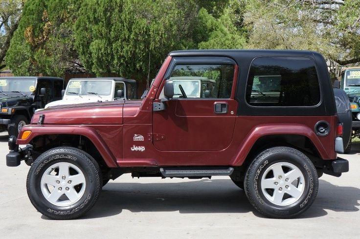 """2003 """"Sienna Red"""" Jeep Wrangler Sahara ~ http://www.selectjeeps.com/inventory/view/9010708/2003-Jeep-Wrangler-2dr-Sahara-League-City-TX"""