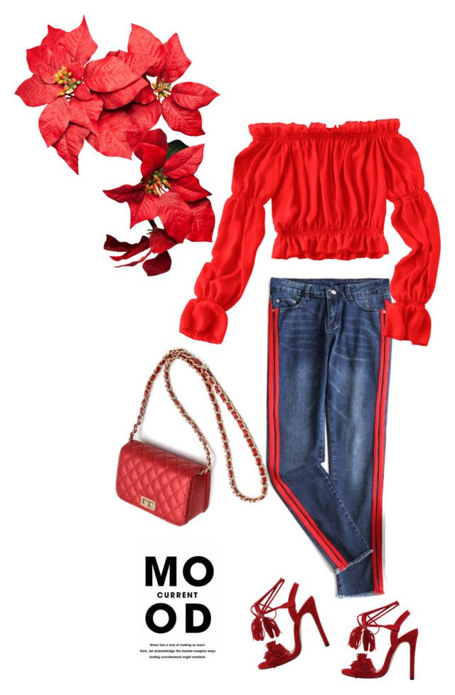 """More red"" by stellina-from-the-italian-glam ❤ liked on Polyvore featuring Current Mood"