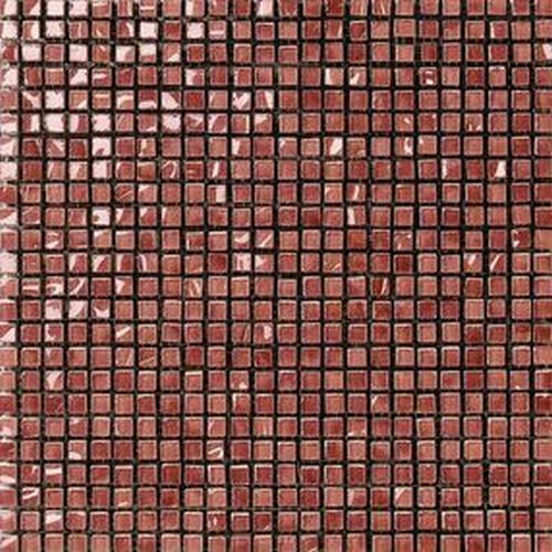 #Settecento #Musiva Rosso Rubino 1x1 on grid 28,6x28,6 cm 100716 | #Glas on ceramic | on #bathroom39.com at 386 Euro/sqm | #mosaic #bathroom #kitchen