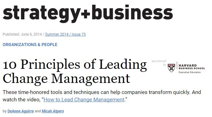 10 Principles Of Leading Changemanagement Includes