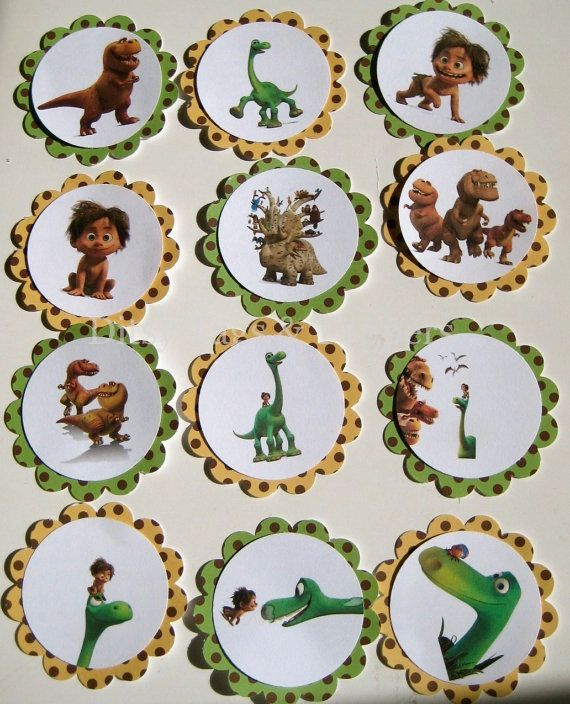 The Good Dinosaur Cupcake Toppers Set of by DitsyTagsandToppers