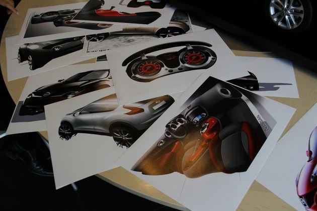 JUKEデザインスケッチ - 日産 ジューク デザイナーインタビュー/プロダクトチーフデザイナー 渡辺誠二(2010年6月9日) で紹介する画像をご覧になれます