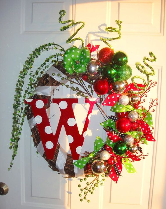 Christmas initial wreath