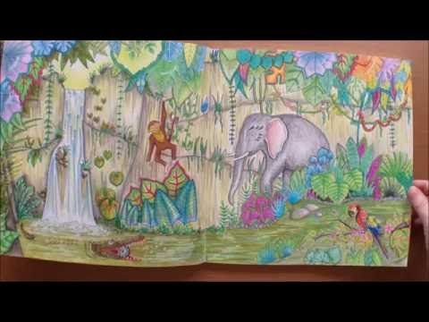 How I Color A Background In Magical Jungle Coloring Book