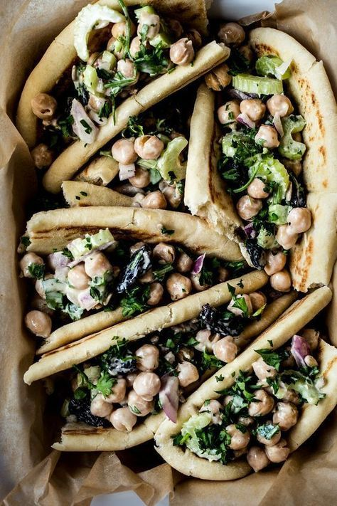 chickpea tahini salad wraps.