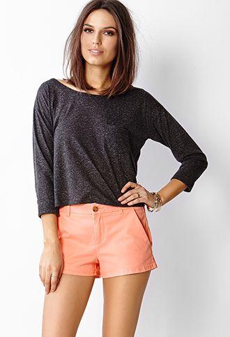 Slant Pocket Chino Shorts | FOREVER 21 - 2042347418